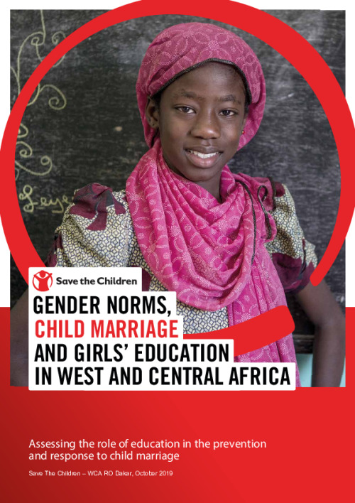 Gender norms, child marriage and girls' education in West and Central Africa