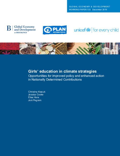 Girls' education in climate strategies