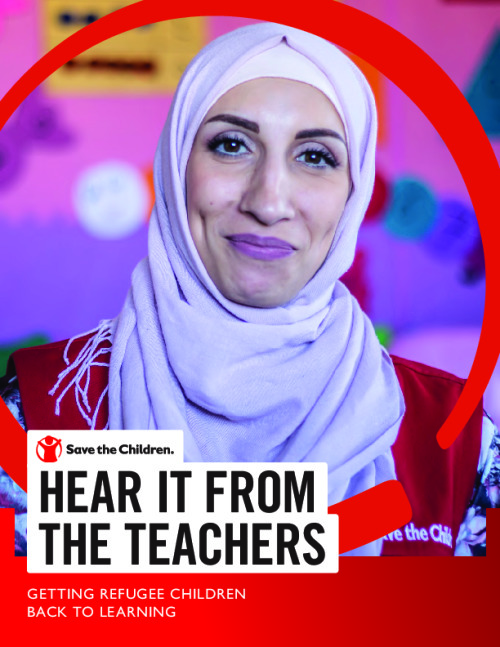 Hear it From the Teachers: Getting Refugee Children Back to Learning