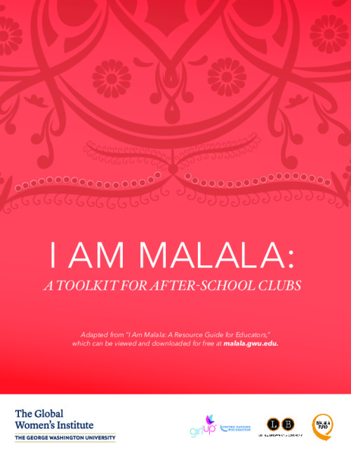 I Am Malala: A toolkit for after-school clubs