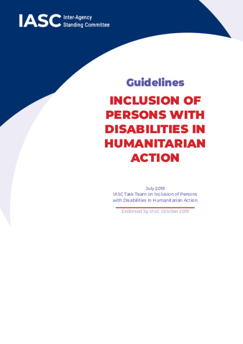 Guidelines: Inclusion of Persons with Disabilities in Humanitarian Action
