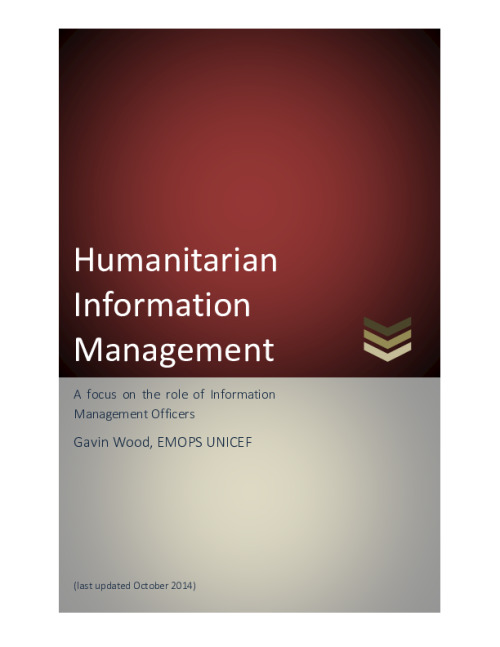 Humanitarian Information Management