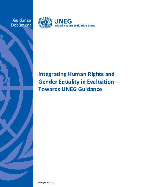 Integrating Human Rights and Gender Equality in Evaluation