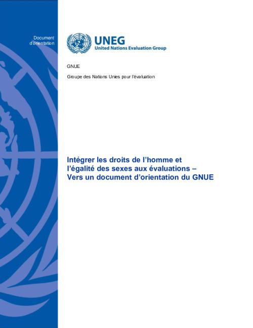 Intégrer les droits de l'homme et l'égalité des sexes aux évaluations