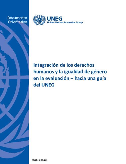 Integración de los derechos humanos y la igualdad de género en la evaluación