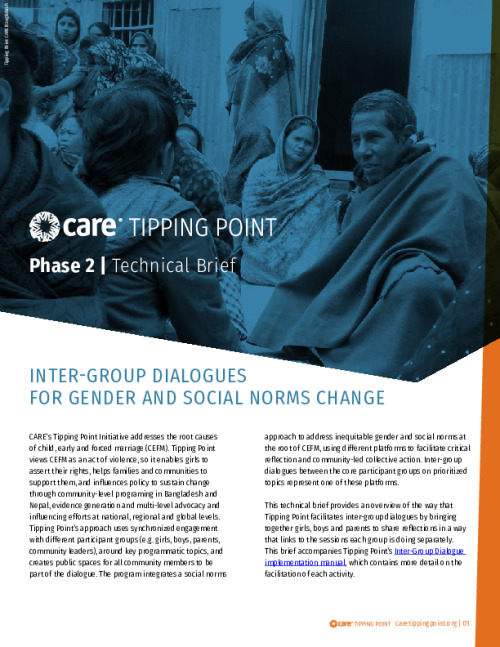Intergroup Dialogues for Gender and Social Norms Change