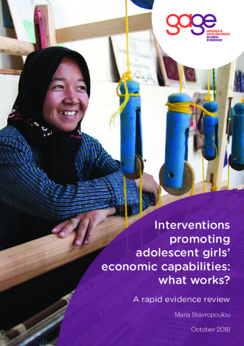 Interventions promoting adolescent girls' economic capabilities: What works?