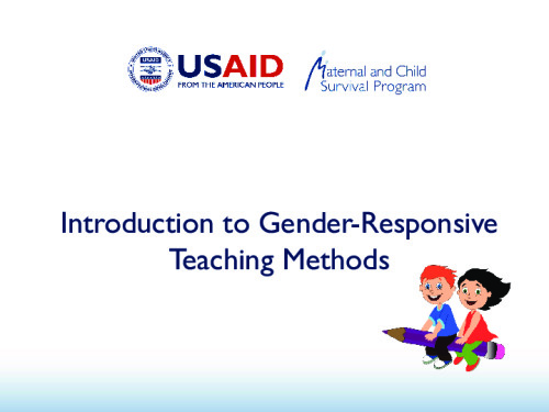 Introduction to Gender-Responsive Teaching Methods