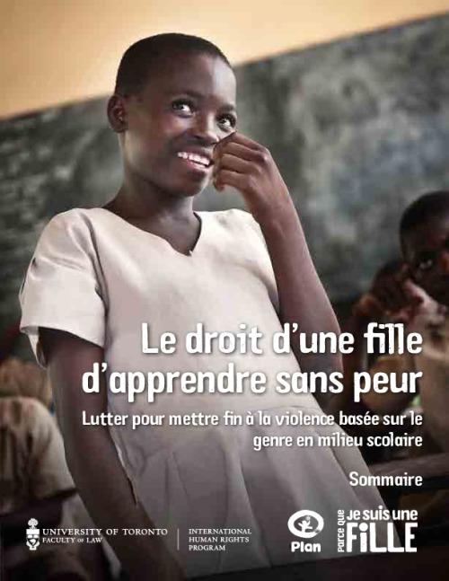 Le droit d'une fille d'apprendre sans peur