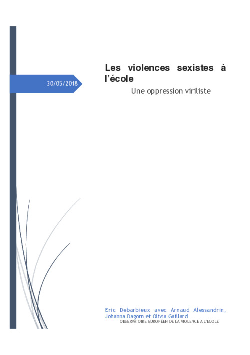 Les violences sexistes à l'école, une oppression viriliste