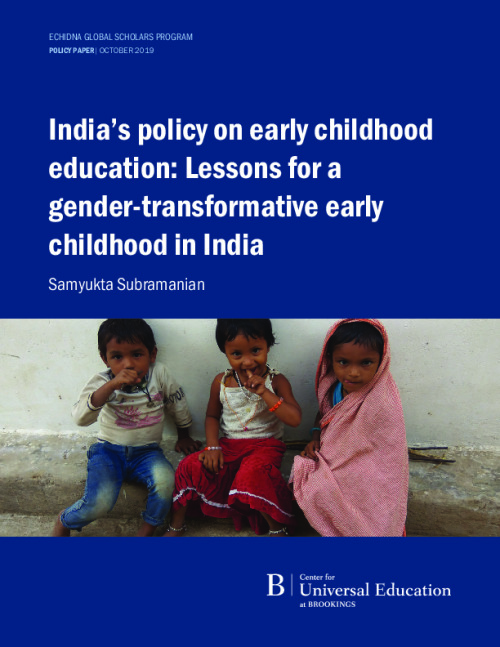 India's policy on early childhood education