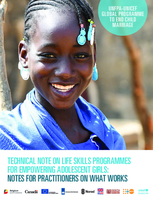 Technical Note on Life Skills Programmes for Empowering Adolescent Girls