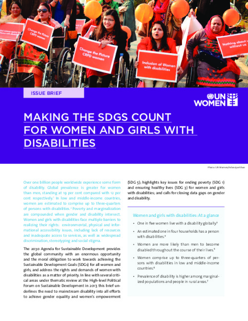 Making the SDGs Count for Women and Girls with Disabilities