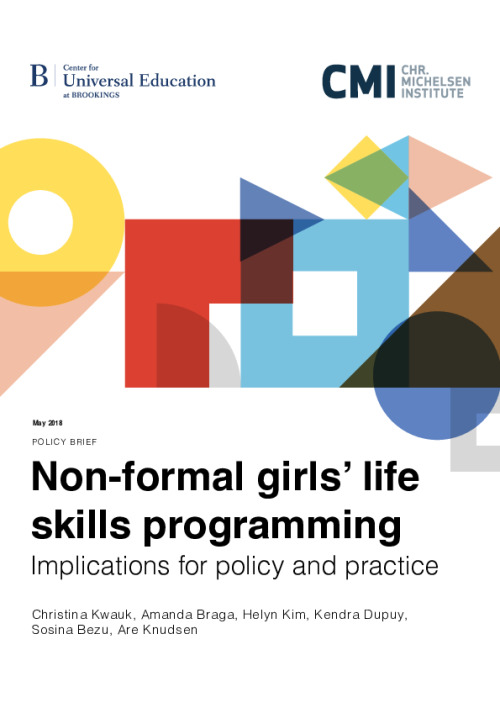 Non-formal girls' life skills programming