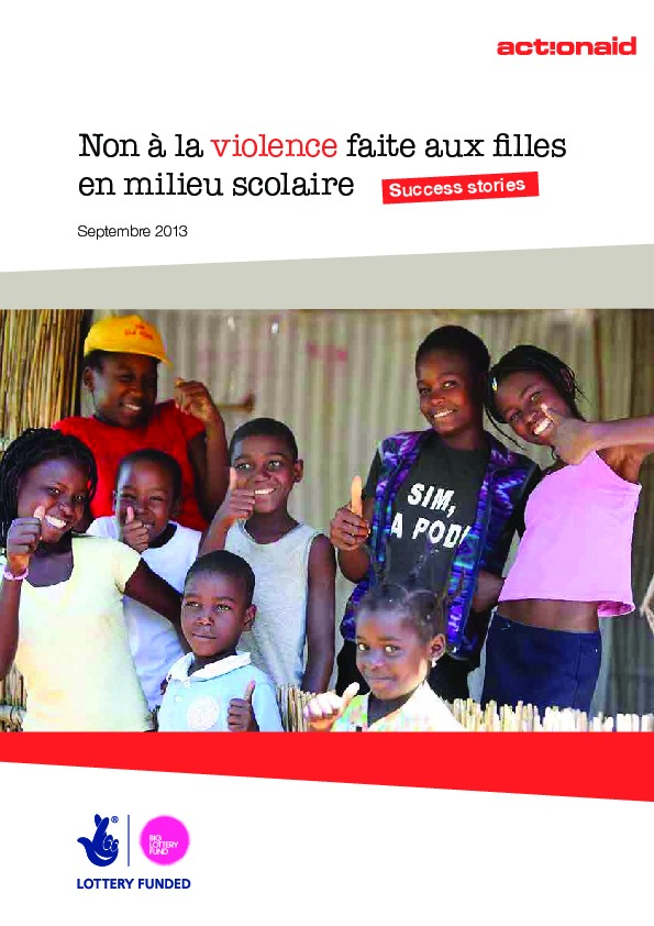 Non à la violence faite aux filles en milieu scolaire: Success stories