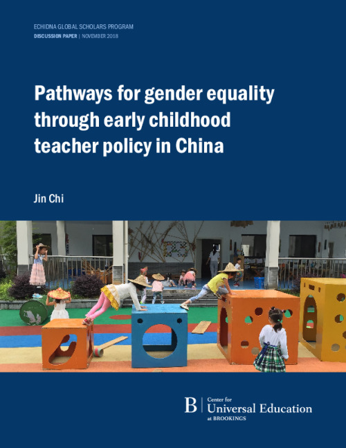 Pathways for gender equality through early childhood teacher policy in China