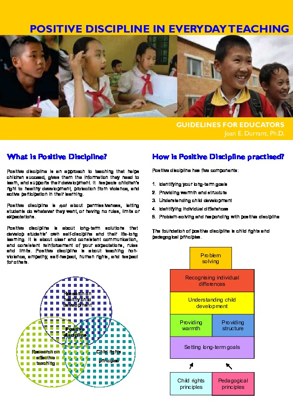Positive Discipline in Everyday Teaching