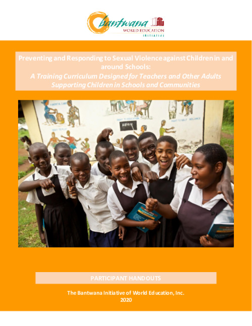 Preventing and Responding to Sexual Violence Against Children in and around Schools: Participant handouts guide