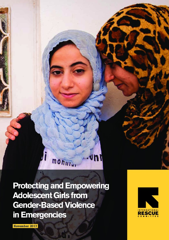 Protecting and Empowering Adolescent Girls from Gender-Based Violence in Emergencies