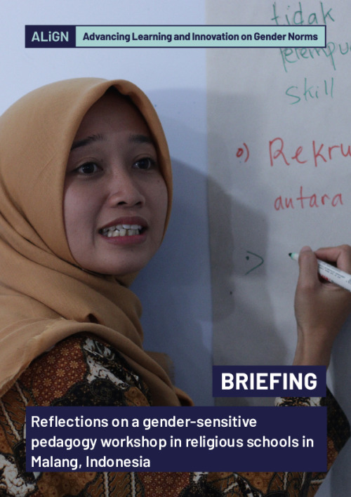 Reflections on a gender-sensitive pedagogy workshop in religious schools in Malang, Indonesia