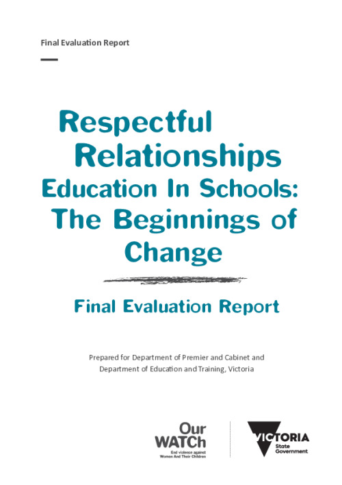 Respectful Relationships Education in Schools: The beginings of change