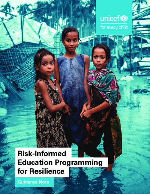 Risk-informed Education Programming for Resilience