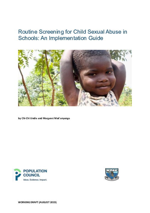 Routine Screening for Child Sexual Abuse in Schools: An Implementation Guide