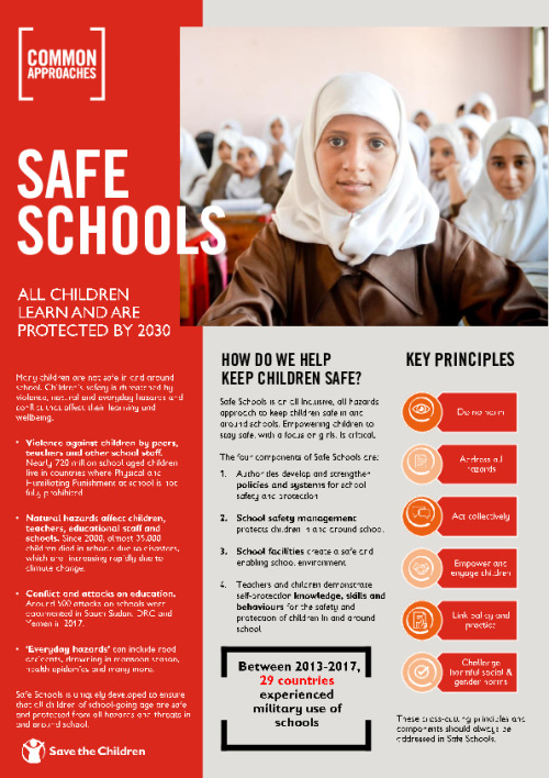 Safe Schools: All children learn and are protected by 2030