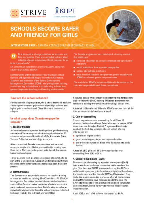 Schools become safer and friendly for girls