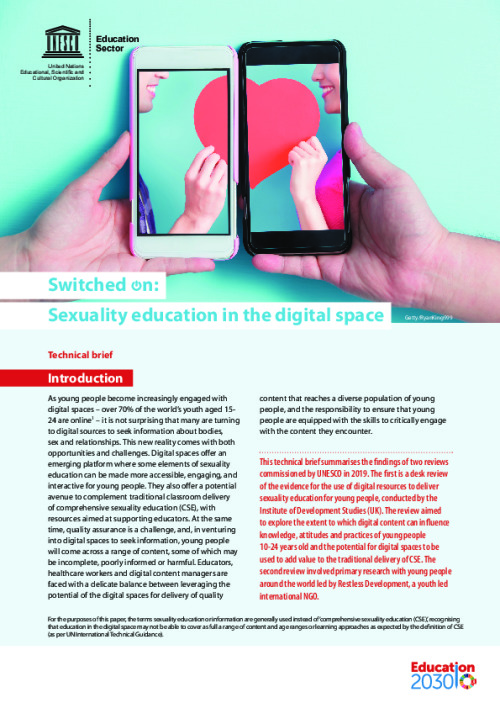 Switched on: Sexuality education in the digital space