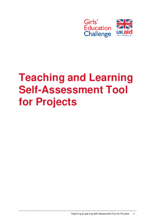 Teaching and Learning Self-Assessment