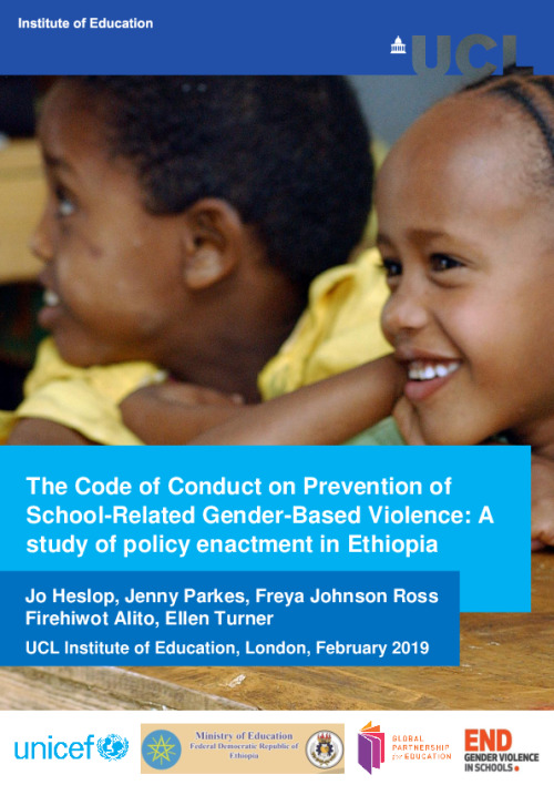 The Code of Conduct on Prevention of School-Related Gender-Based Violence