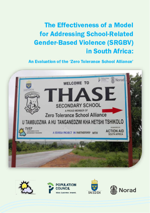 The Effectiveness of a Model for Addressing School-Related Gender-Based Violence (SRGBV) in South Africa