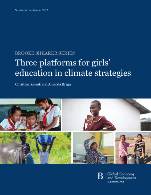 Three platforms for girls' education in climate strategies