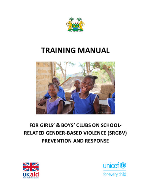 Training Manual for Girls' and Boys' Clubs on SRGBV Prevention and Response
