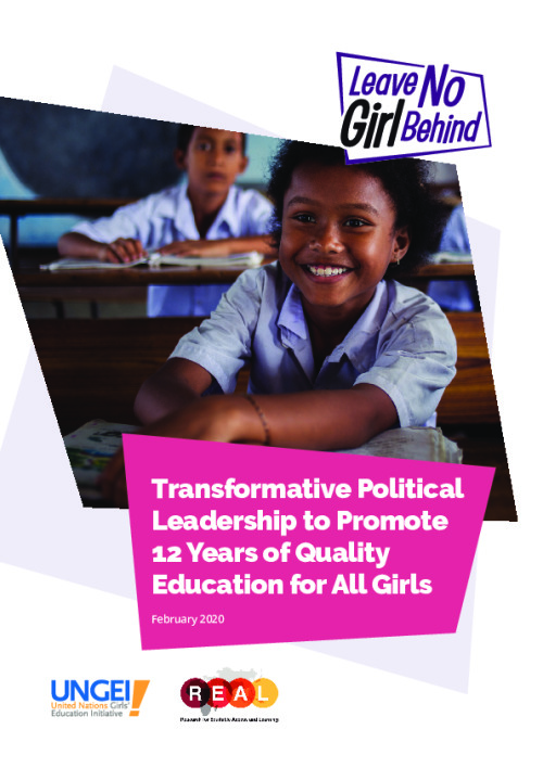 Transformative Political Leadership to Promote 12 Years of Quality Education for All Girls (policy brief)