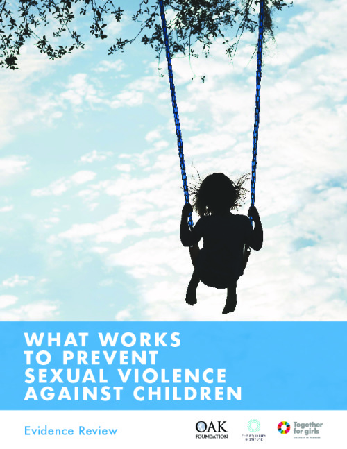 What works to prevent sexual violence against children