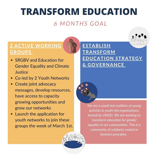 Transform Education 6 month plan graphic